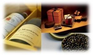 cadeaux d'entreprise luxe maroquinerie vin caviar Parisian Style